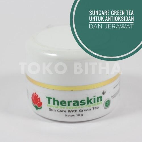 THERASKIN SUNCARE GREEN TEA PROTEKSI UV DETOKSIFIKASI DAN MENCEGAH JERAWAT 1