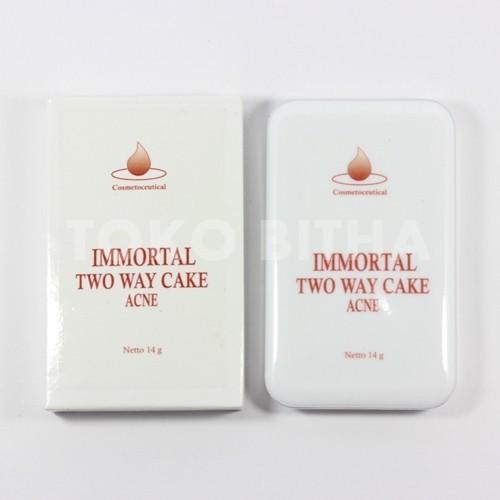 BEDAK PADAT IMMORTAL TWO WAY CAKE ACNE NATURAL 2